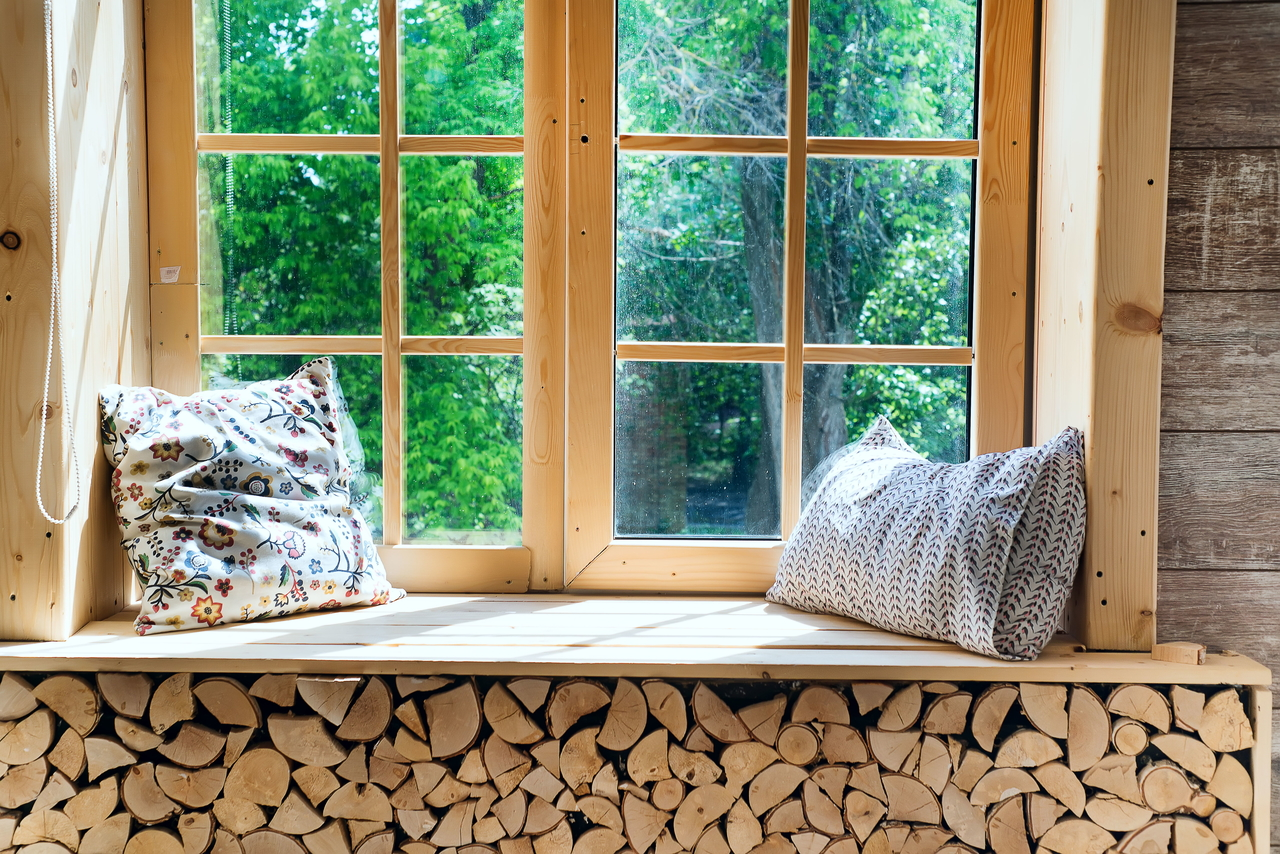 wooden windows for treehouse